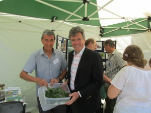 Moth Office Peter Hugo introduces Neil Carmichael, MP for Stroud to some Small Tortoiseshell larvae