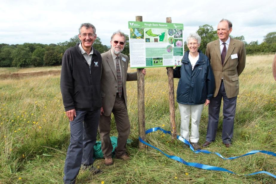 Martin Warren, BC CEO; David Dennis, BC Chair; Sue Smith, BC Glos Branch Chair; Andrew Sells, Chair Natural England (photo Ken Cservenka)